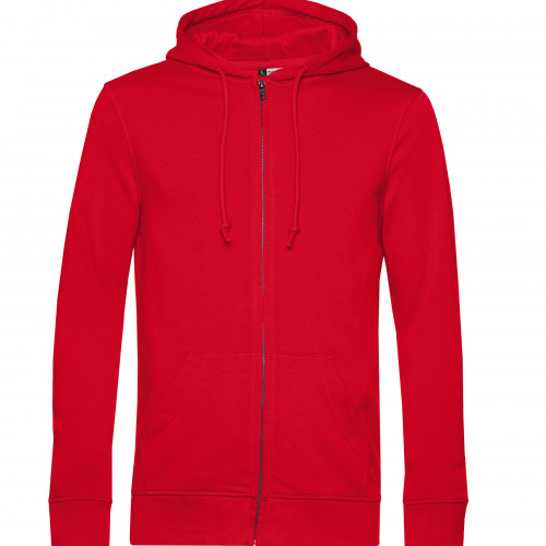 B and C Collection B&C Organic Zipped Hood Red