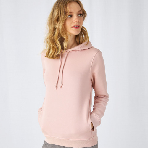 B and C Collection B&C Organic Hooded /women Heather Grey