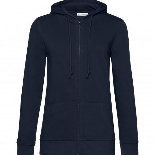 B and C Collection B&C Organic Zipped Hood /women NavyBlue