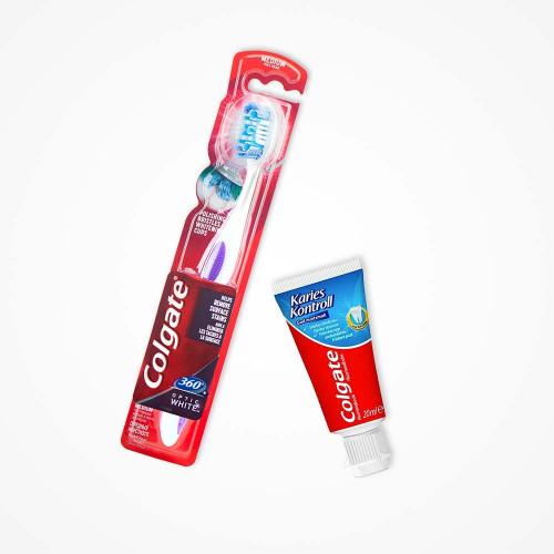 Colgate Colgate 360 Degree Toothbrush Medium + Mini tandkräm 20ml