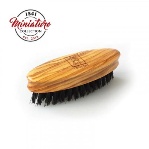 1541 London Mini Beard & Moustache Brush Olivewood