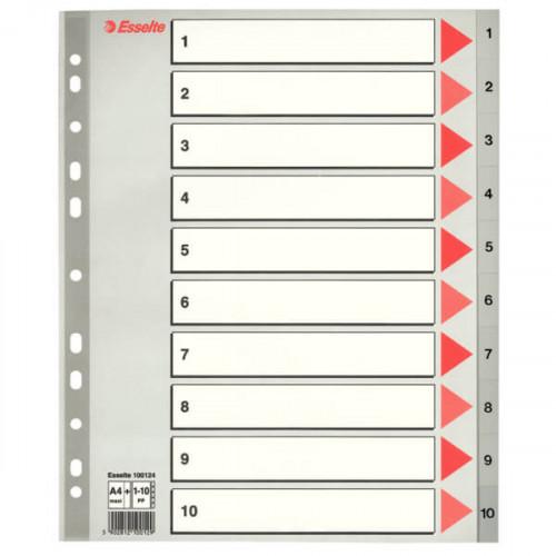 ESSELTE Register Maxi A4/1-10 Grå