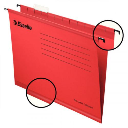 ESSELTE Hängmapp Standard A4 Röd 25-pack