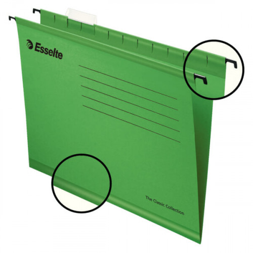 ESSELTE Hängmapp Standard A4 Grön 25-pack
