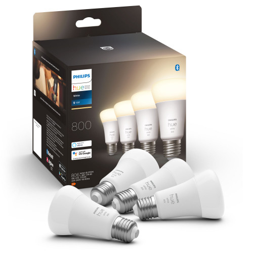 Philips Hue White E27 A60 800lm 4-pack