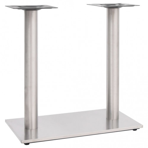 vidaXL Bordsben för cafébord silver 70x40x72 cm rostfritt stål