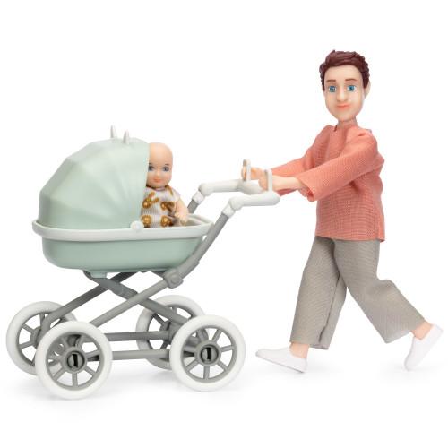 Lundby Docka med bebis & vagn