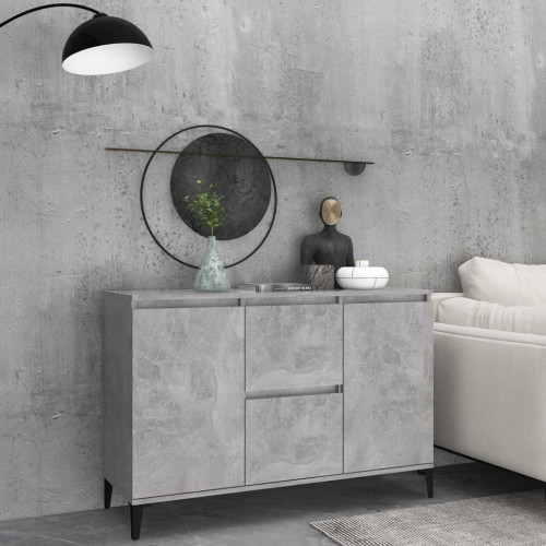 vidaXL Skänk betonggrå 104x35x70 cm spånskiva
