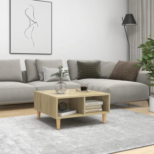 vidaXL Soffbord sonoma-ek 60x60x30 cm spånskiva