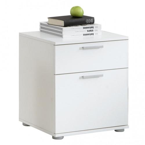 FMD FMD Nattduksbord med 2 lådor vit