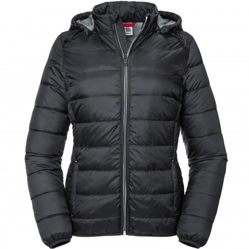 Russell Ladies Hooded Nano Jacket Black