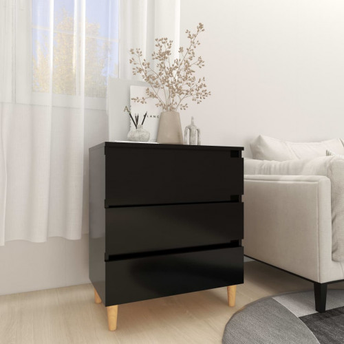 vidaXL Skänk svart 60x35x69 cm spånskiva