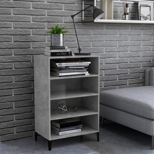 vidaXL Skänk betonggrå 57x35x90 cm spånskiva
