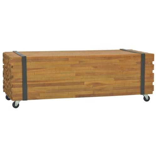 vidaXL Soffbord 110x45x38 cm massiv teak