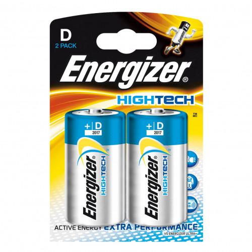 ENERGIZER Batteri D/LR20 High Tech 2-pack