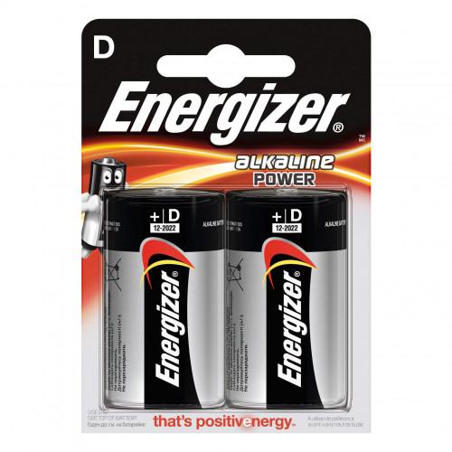 ENERGIZER Batteri D/LR20 Alkaline Power 2-pack