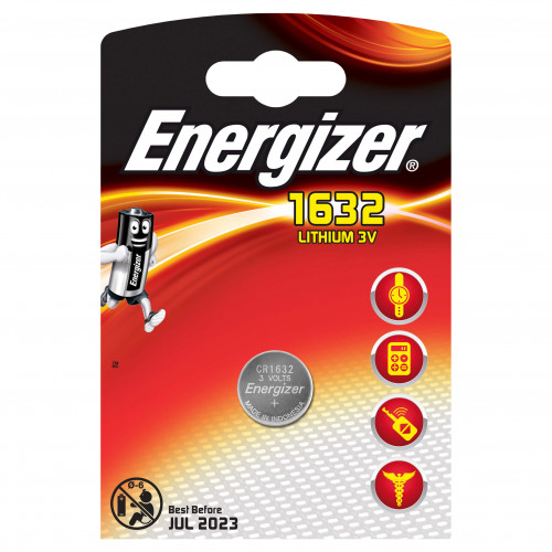ENERGIZER Batteri CR1632 Lithium 1-pack