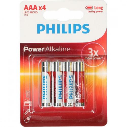 Philips Batteri Alkaliska LR03/AAA 4-pack