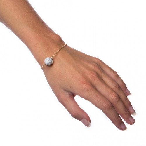Armband Marble Ball - White