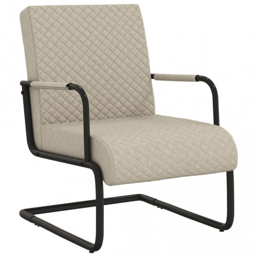 vidaXL Fribärande stol ljusgrå konstläder