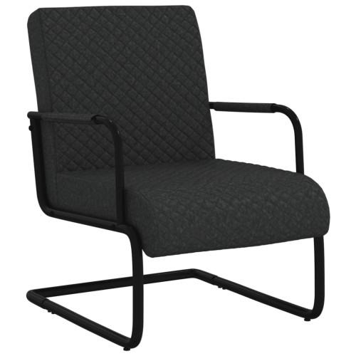 vidaXL Fribärande stol svart konstläder