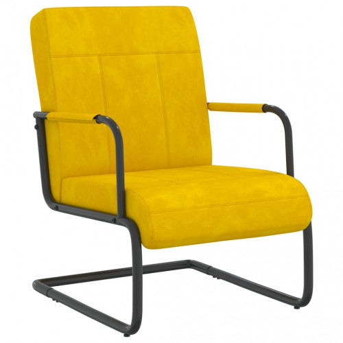 vidaXL Fribärande stol senapsgul sammet