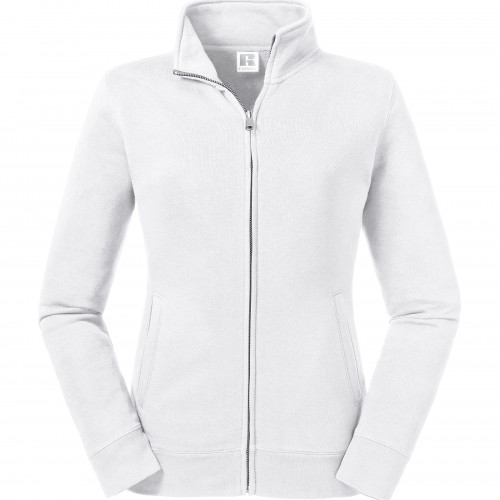 Russell Ladies' Authentic Sweat Jacket White