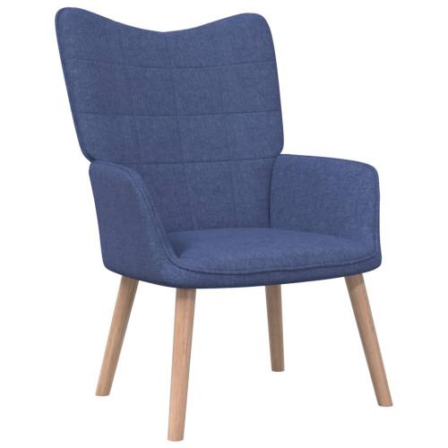 vidaXL Vilstol 62x68,5x96 cm blå tyg