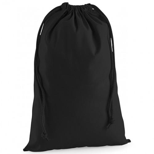Westford Mill Premium Cotton Stuff Bag Black