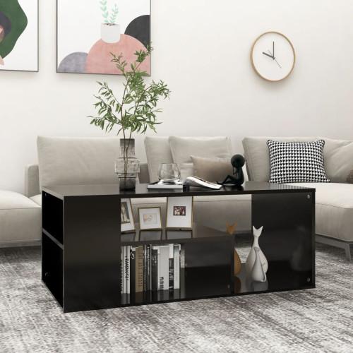 vidaXL Soffbord svart 100x50x40 cm spånskiva