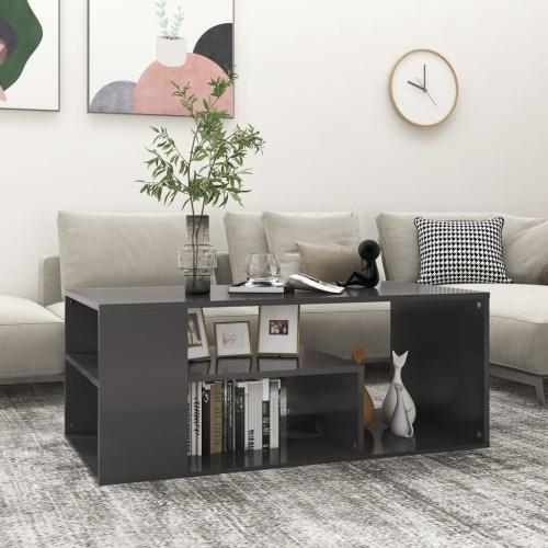 vidaXL Soffbord grå 100x50x40 cm spånskiva