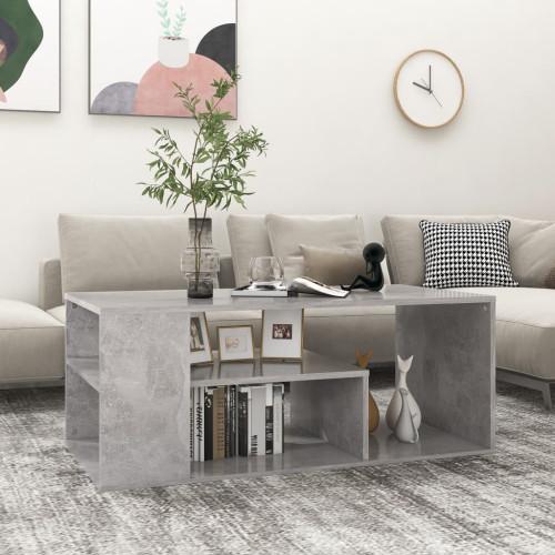vidaXL Soffbord betonggrå 100x50x40 cm spånskiva