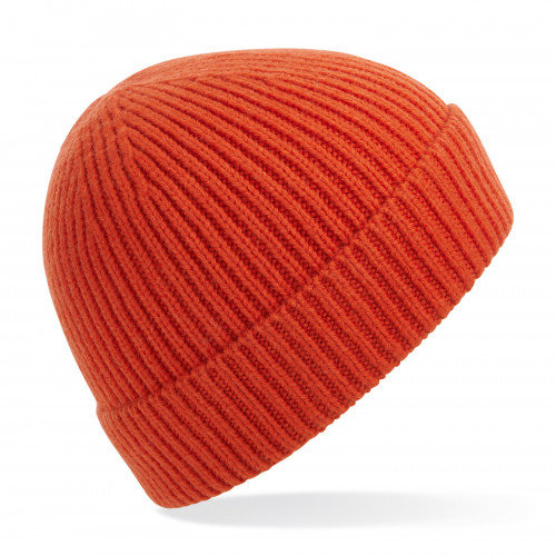 Beechfield Engineered Knit Ribbed Beanie FireRed