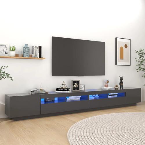 vidaXL TV-bänk med LED-belysning grå 300x35x40 cm