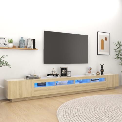 vidaXL TV-bänk med LED-belysning sonoma-ek 300x35x40 cm