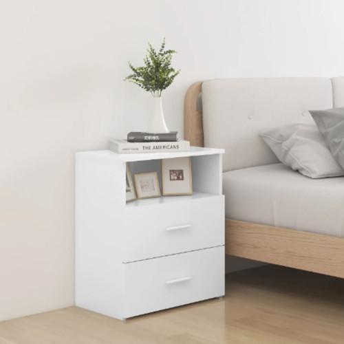 vidaXL Sängbord vit 50x32x60 cm