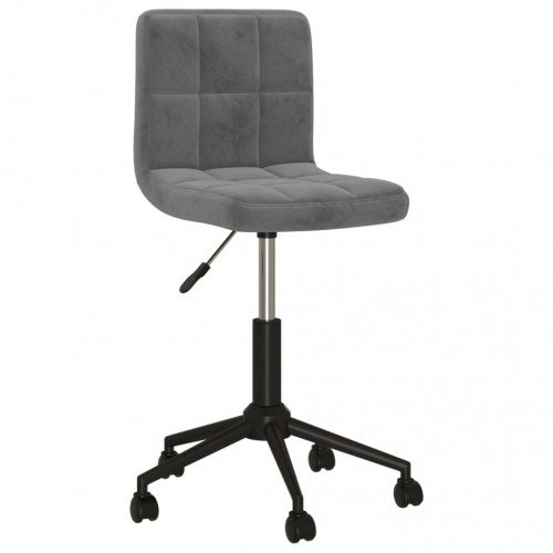 vidaXL Snurrbar kontorsstol mörkgrå sammet